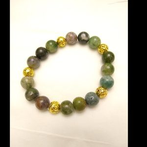 Indian Agate and Lava Beads